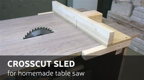 crosscut sled  homemade table  home