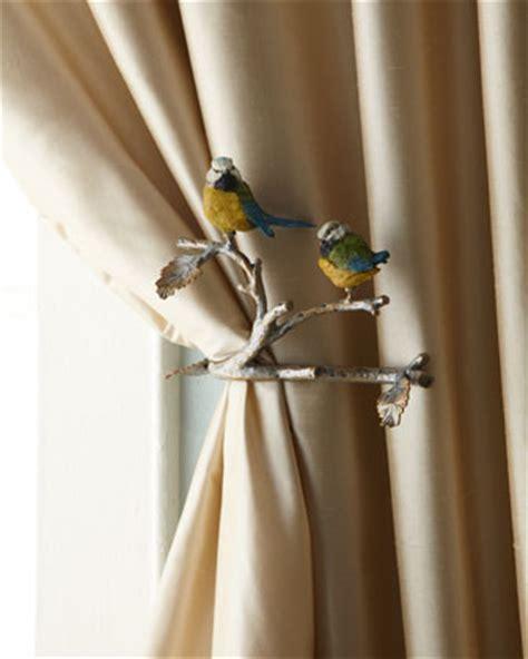 bird curtain tie backs janice minor two feathered friends tiebacks traditional