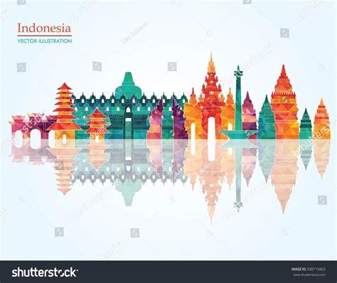 Indonesia Detailed Skyline Vector Illustration Stock | indonesia detailed skyline vector illustration stock