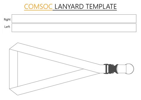 lanyard layout photoshop computer society comsoc lanyard template by