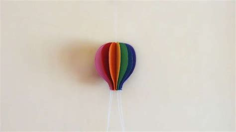 How To Make Balloons Out Of Paper - how to make colorful paper air balloon diy crafts
