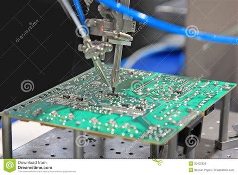 soldering capacitors to pcb solder the chip on the pcb stock photos image 30405833