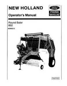 new holland round baler 852 operators manual ebay