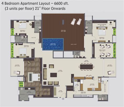 4 bedroom luxury apartment floor plans four planets pics about space
