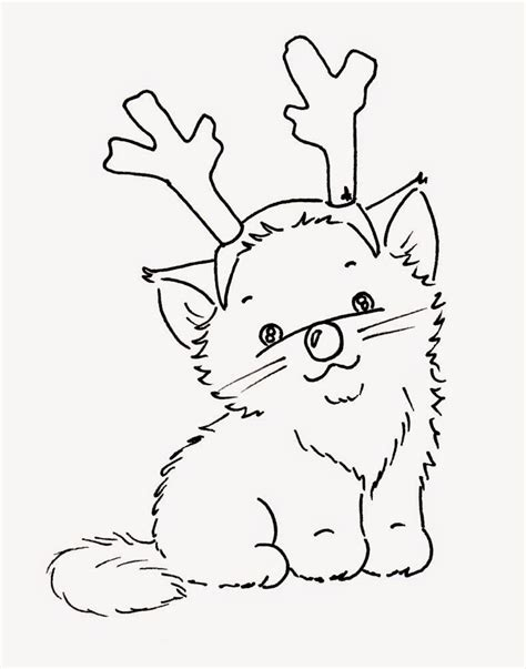 coloring page christmas cat sliekje digi sts christmas cats