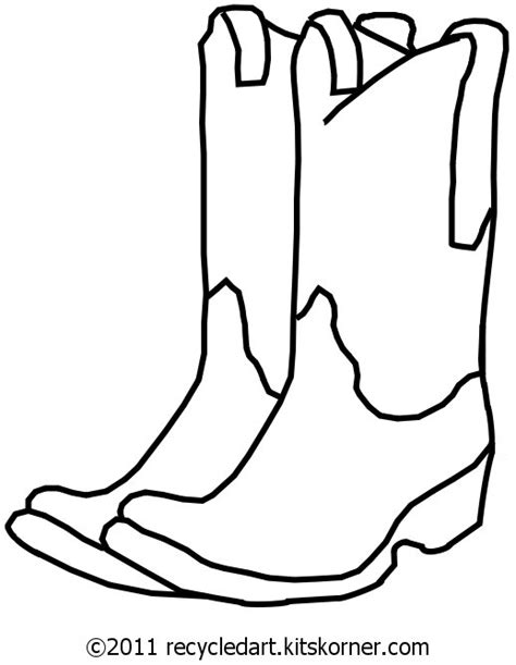 Cowboy Boot Pattern Use The Printable Outline For Crafts Drawing Of A Cowboy Boot Printable