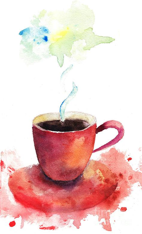 Regina Home Decor by A Cup Of Coffee Painting By Regina Jershova