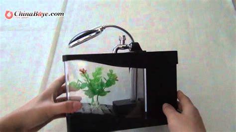 Jual Lu Aquarium Mini stylish mini colorful led aquarium desktop l usb fish tank black