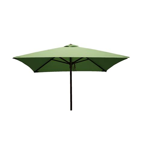 Square Patio Umbrella Destinationgear Classic Wood 6 5 Ft Square Patio Umbrella In Lime Polyester 1234 The Home Depot