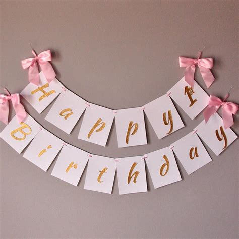 Banner Happy Birthday 1 1st birthday banner handcrafted in 1 3 business days pink and gold b confetti momma