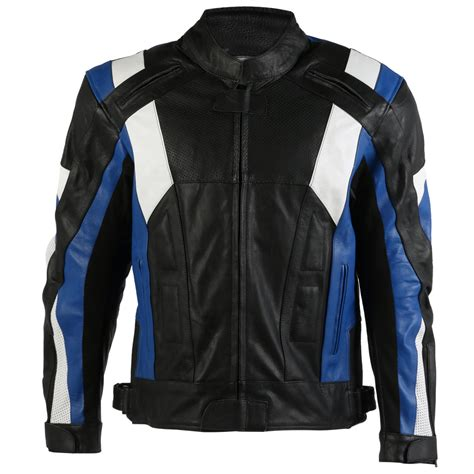 Texpeed Mens Veneto Leather Racing Jacket Leather