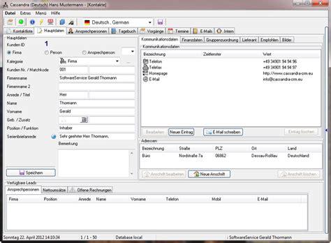Kostenlose Vorlagen Excel Kostenlose Kundenverwaltung Software Herunterlad