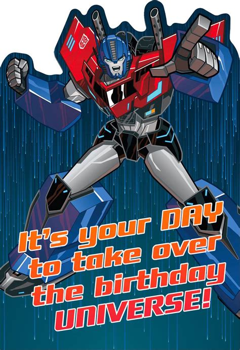 printable birthday cards transformers transformers optimus prime epic birthday card greeting
