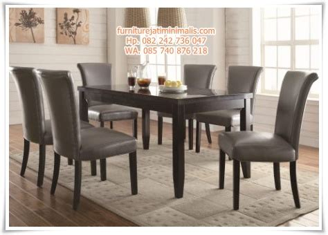 Meja Makan Jati Kursi Enam kursi meja makan jati minimalis meja kursi makan jati minimalis furniture jati minimalis