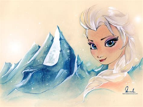 elsa painting frozen elsa by kleinmeli on deviantart