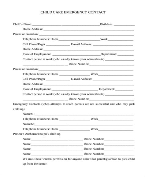 daycare form cool free sle daycare forms home daycare