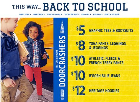 8 Graphic Tees For For Back To School by S Oshkosh B Gosh Canada Doorcrashers Back To School