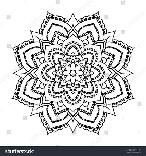 vector henna tatoo mandala mehndi style 337651157