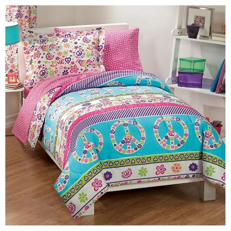 bed in a bag target dream factory 174 peace love mini bed in a bag pink full