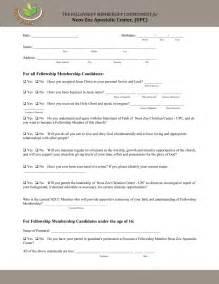 church membership forms template church matters the church covenant form