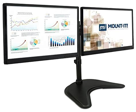 desk depth for 24 monitor mount it dual monitor desk stand lcd mount adjustable