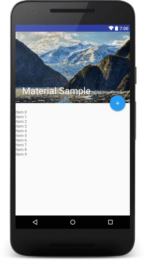 xml layout preview toolbar animation with android design support library