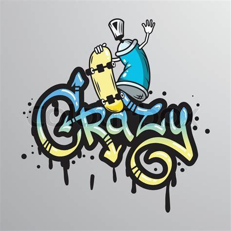 spray paint graffiti font generator graffiti spray can character with skateboard