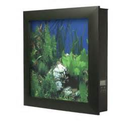 Aquavista 500 Wall Mounted Aquarium with Whitestone Background, Black