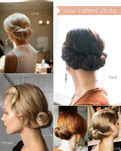 hairstyles roll low updo is the biggest hairstyle trend nowadays