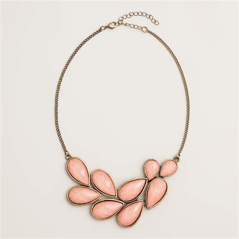 coral cluster statement necklace world market