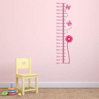 height wall sticker flower height chart wall sticker by mirrorin