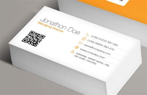 Free Business Card Template With Qr Code by Qr Code Business Card Template Medialoot
