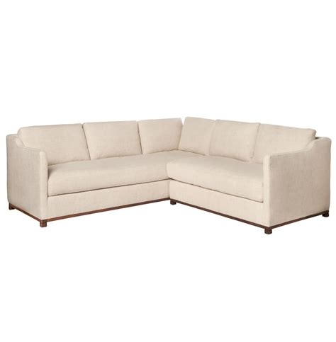 right arm facing sectional cisco brothers kardell mid century modern beige linen