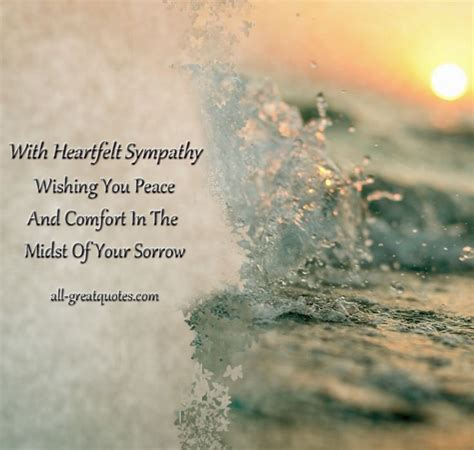 comforting love messages with heartfelt sympathy wishing you peace and comfort in