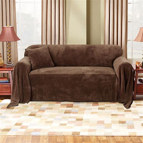 Leather Sofa Covers Walmart by Mainstays Plush Sofa Furniture Throw Walmart