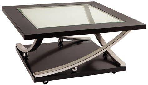 coffee table with casters square glass top cocktail table with casters by