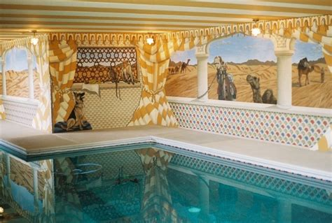 moroccan wall mural moroccan mural by tom of wow effects in virginia traditional pool dc metro by