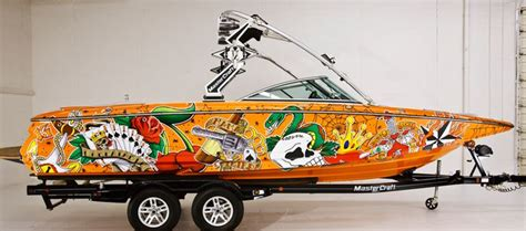 Total Wrap Aluminium Af 02 Termurah fellers mastercraft boat wrap with custom print on 3m vinyl boats vinyls cars