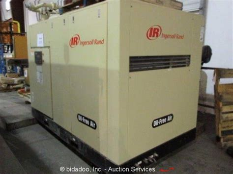 ingersoll rand h200w industrial air compressor w air dryer 200 hp 855 cfm ebay