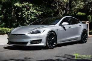 Tesla Model S Silver Tesla Model S Wheel 20 Quot T Sportline Tst Set In Matte Black