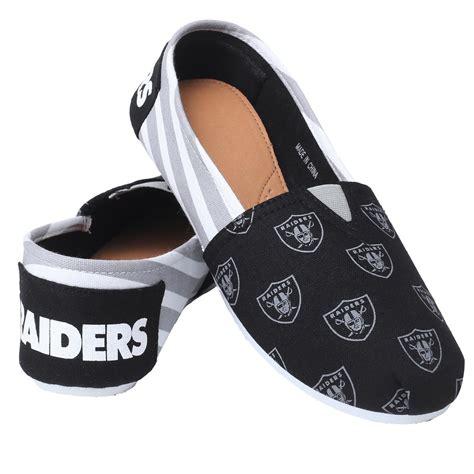 raiders slippers nfl s oakland raiders black gray white slipper
