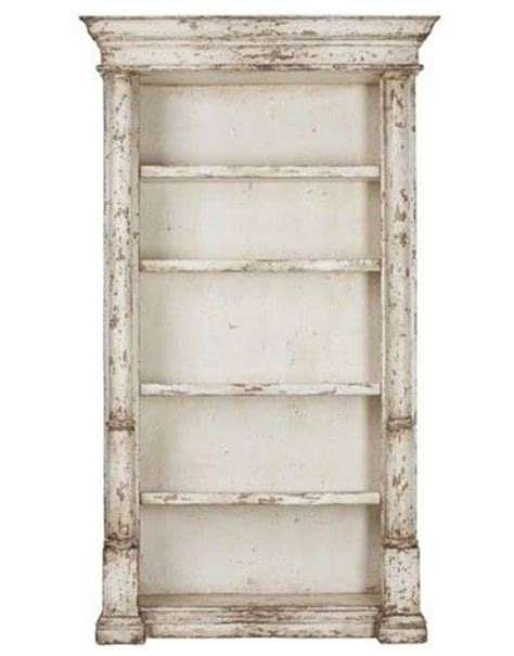 Pinterest White Distressed Bookcase