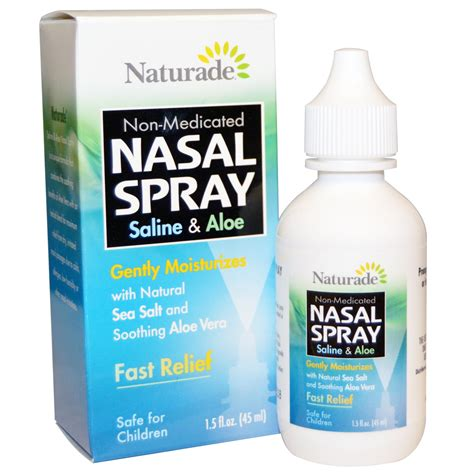 Nasalin Spray naturade nasal spray saline aloe 1 5 fl oz 45 ml iherb
