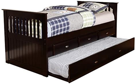 twin rake bed with 3 drawers and trundle discovery world furniture twin rake bed with 3 drawers and