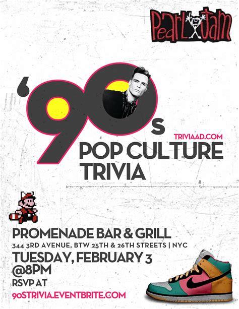 pop culture 2015 trivia 90s pop culture trivia at promenade murphguide nyc bar