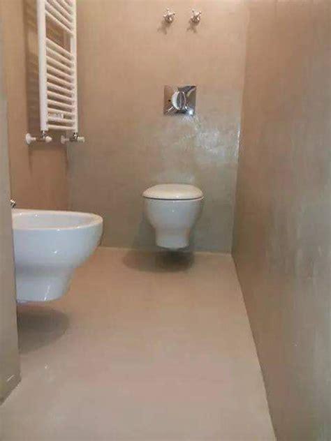 Bagno Cemento Spatolato by Progetto Resina Idee Ristrutturazione Casa