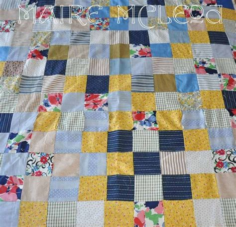 Patchwork Quilt Sizes - vintage patchwork quilt top child crib size yellows