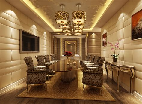 chicago living room lounge design online meeting rooms luxury conference room 3d model max cgtrader com