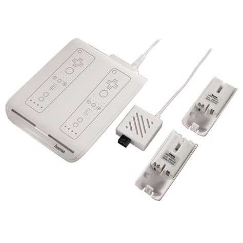 induction charger wii induction charger 2 batteries for nintendo wii hama 00052157