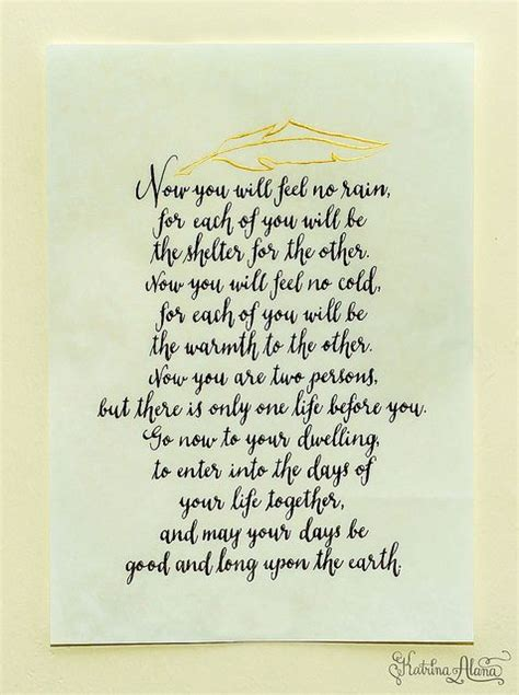 wedding blessing and benediction apache marriage blessing poem calligraphy by alana